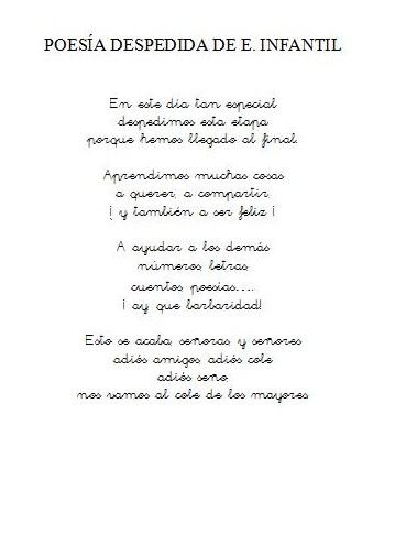 Poemas Para Graduacion De Kinder