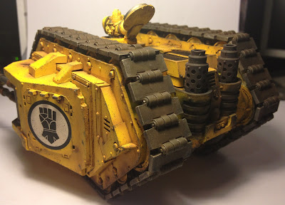 Rear View of the Imperial Fists Armoured Proteus Land Raider