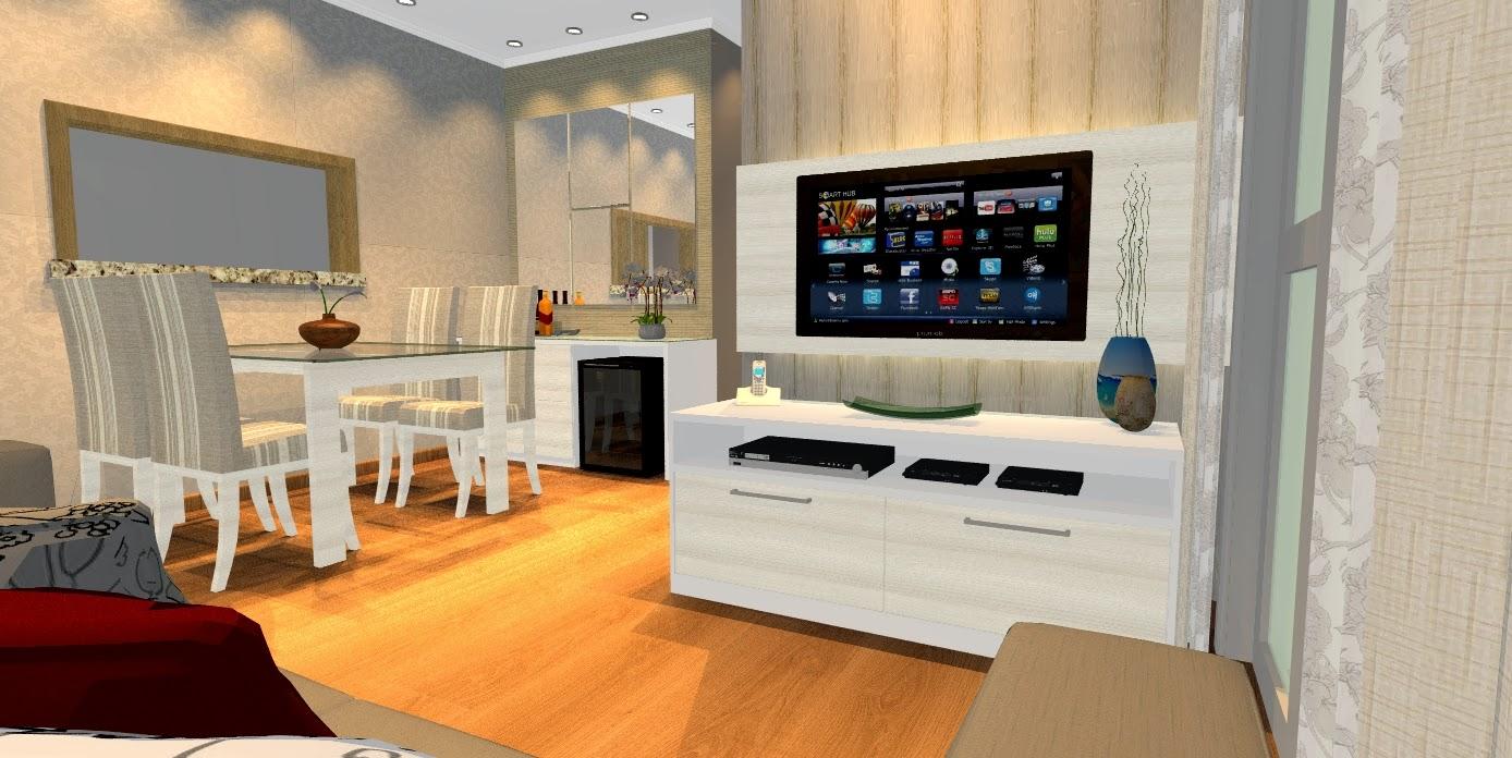 4 modelos de sala de estar e jantar com m veis planejados for Sala de estar dimensiones