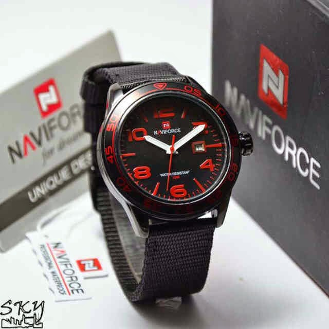 Naviforce 9032 Hitam Merah
