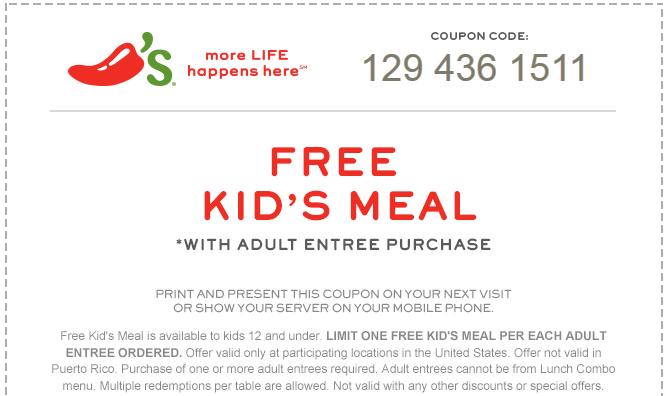 Chili's coupon code