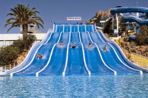 Algarve Portugalia Park Wodny Aquapark Slide and Splach foto zdjecia