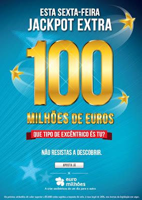 Euromilhões, Euromillions, 100 milhões, Jackpot,