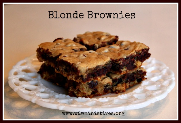 Woman to Woman: Tasty Tuesdays - Blonde Brownies