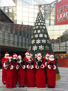 Christmas singers at Sanlitun