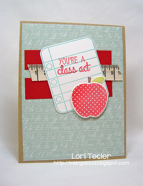 You're a Class Act-designed by Lori Tecler/Inking Aloud-stamps and dies from Reverse Confetti