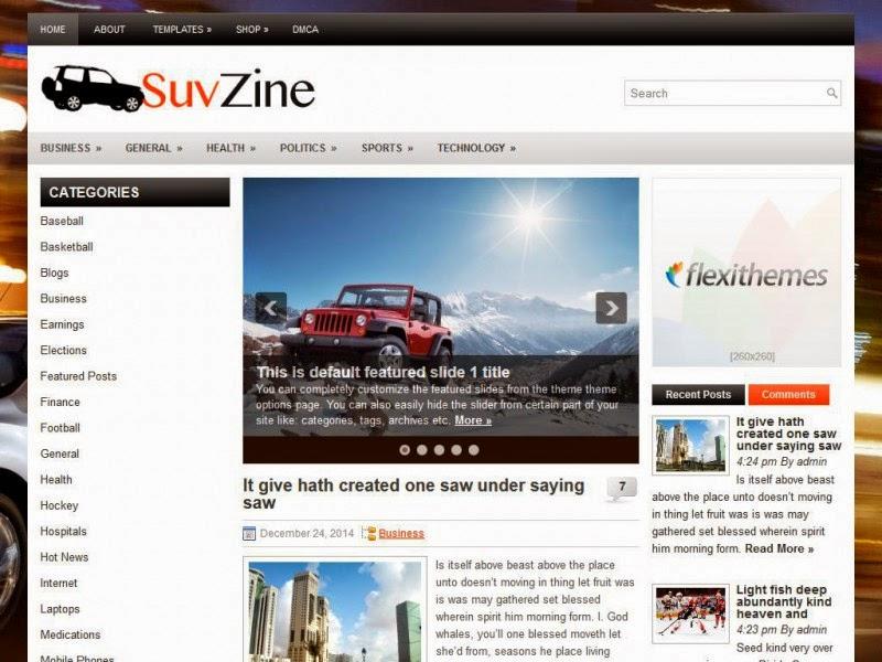 SuvZine - Free Wordpress Theme