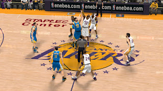 NBA 2K13 Lakers Court Mod