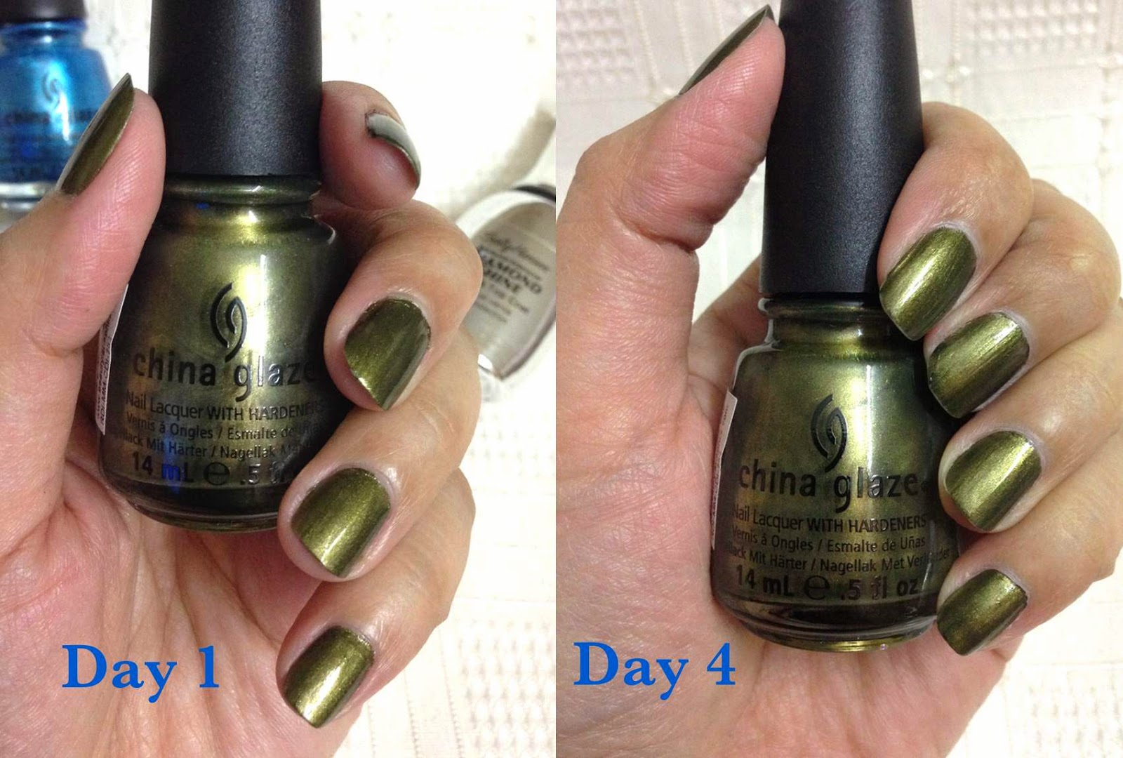 Celestechoo china glaze nail polish in lovely green color chinaglazelongwearnailpolishafter4days nvjuhfo Gallery