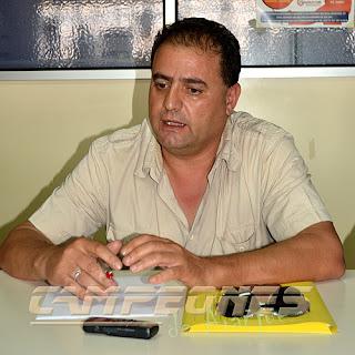 Javier de la Hoz, presidente del Real Aranjuez CF