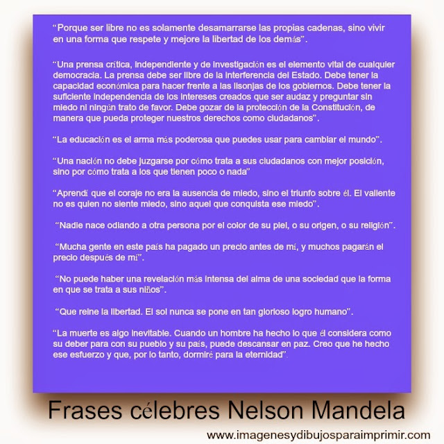 Nelson Mandela sus frases más celebres