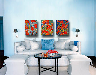 Decorating Idea for Red Poppy Art