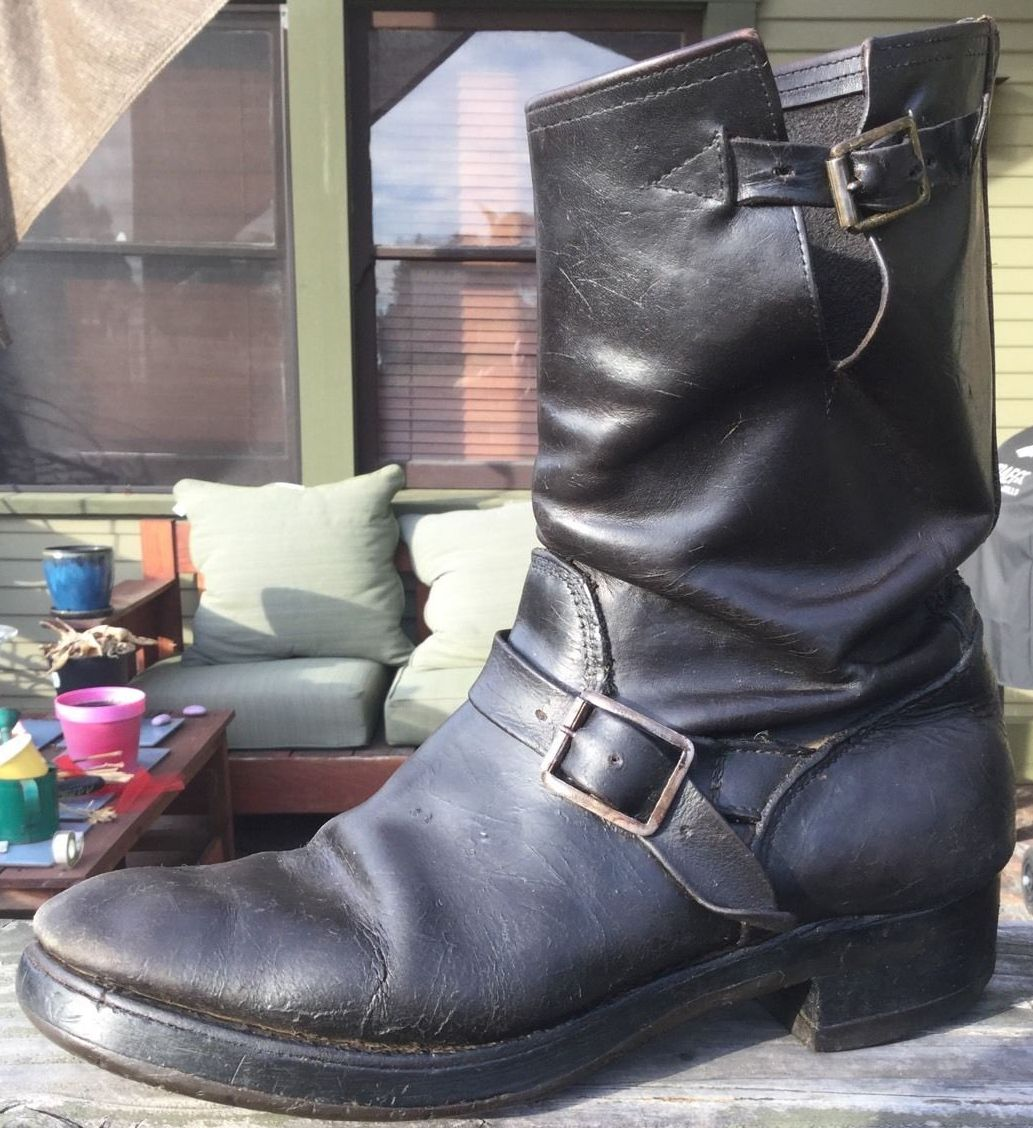 Vintage Engineer Boots: BARGAIN VINTAGE ENGINEER BOOTS