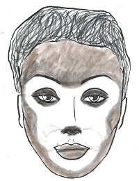 Monkey face makeup - photo#28