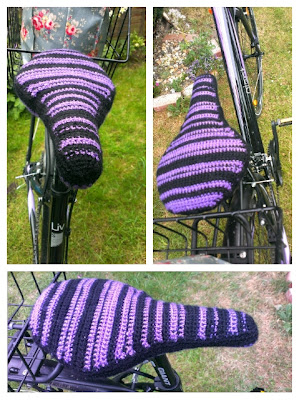 Miss Chaela Boo: Crochet bike seat cover