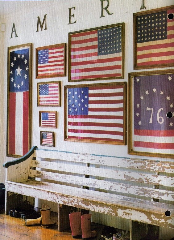 life as a thrifter great ways to display the american flag. Black Bedroom Furniture Sets. Home Design Ideas