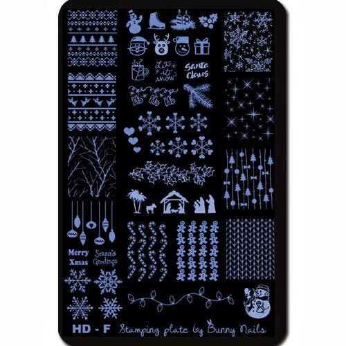 Lacquer Lockdown - new stamping plates 2013, new image plates 2013, new stamping plates, nail art, stamping, bundle monster, new plates 2013, holiday nail art, christmas nail art, thanksgiving nail art, new years nail art, floral nail art, roses, birds, snowmen, reindeer, fireworks, intarsia sweater nail art, cornucopia nail art, indie plate makers, bunny nails, bunny nails HD-E, konad, bunny nails HD-F plate, gingerbread men, ornaments, winter nail art