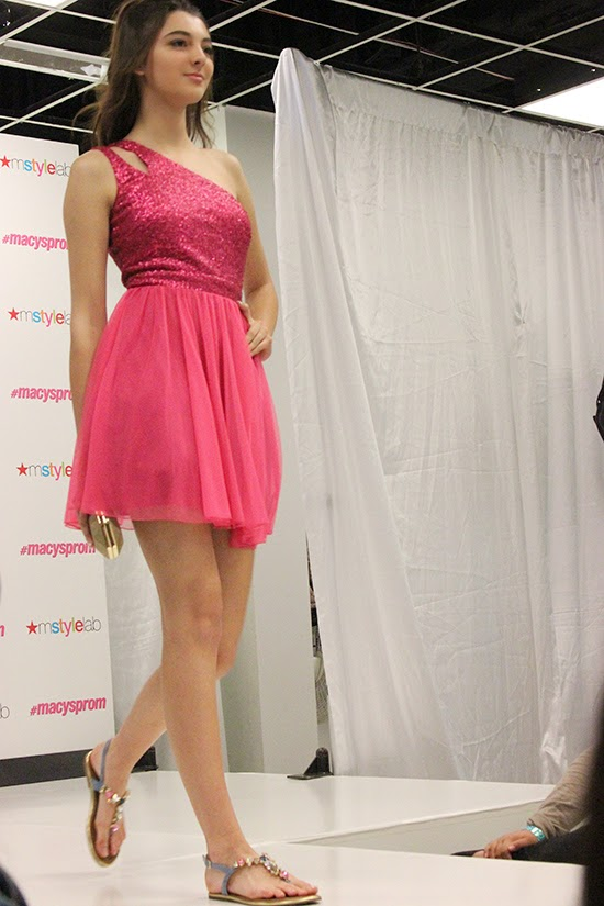Sequin and Tulle Pink Prom Dress 2015