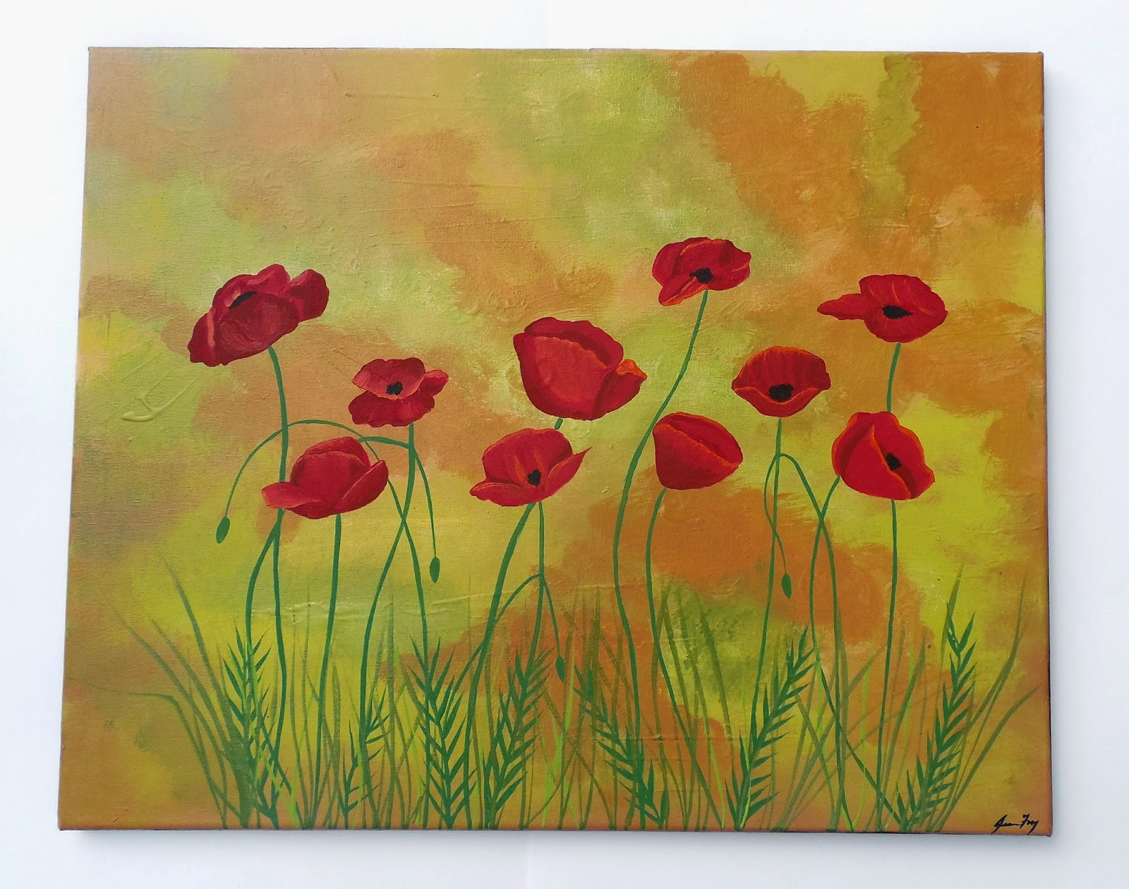 Jeanne fry art red poppy flower symbolism this is my new original contemporary folk painting titled red poppies and is available in my etsy shop here mightylinksfo Gallery
