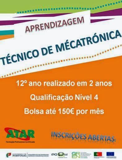 Curso remunerado para jovens em Leiria (Mecatrónica)