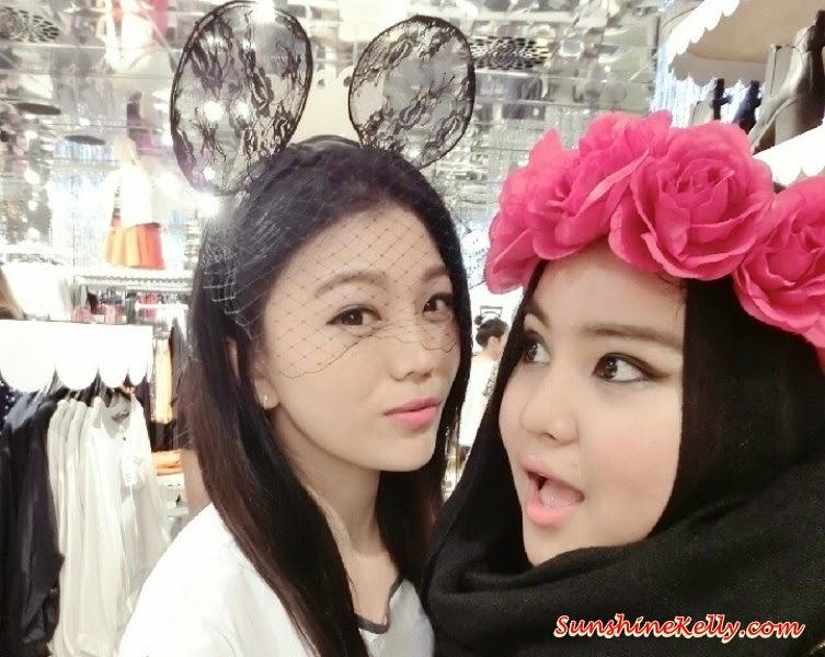 mONKI @ 1 Utama, Monki 1Utama Pre-Opening Party, new in 1Utama shopping. Flower Headband, Laced and Net Hedband, optimistic