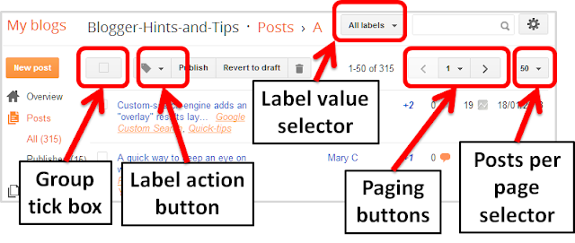 How To Change Labels On More Than One Post At A Time Blogger Hints