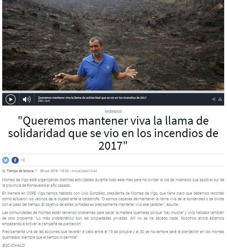 Entrevista radiofónica a Presidente Montes de Vigo