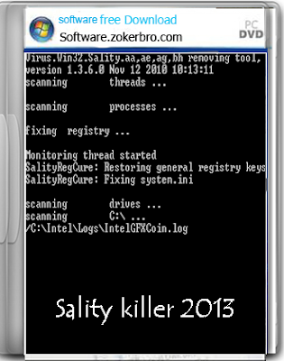 Sality killer 2013 Win 32 sality Removing Tool Full Version