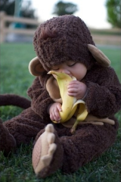 cute baby picture, cutest baby pic you'll ever see, baby with monkey costume, cute baby