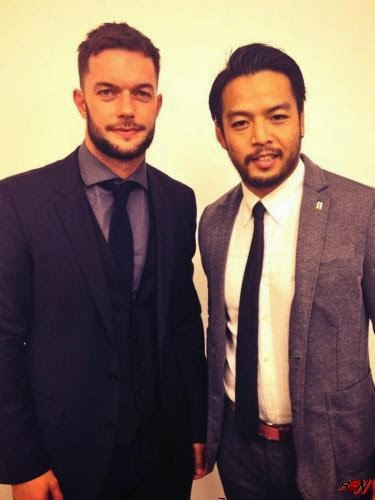 Kenta and Prince Devitt are backstage at tonight's WWE NXT TV tapings.
