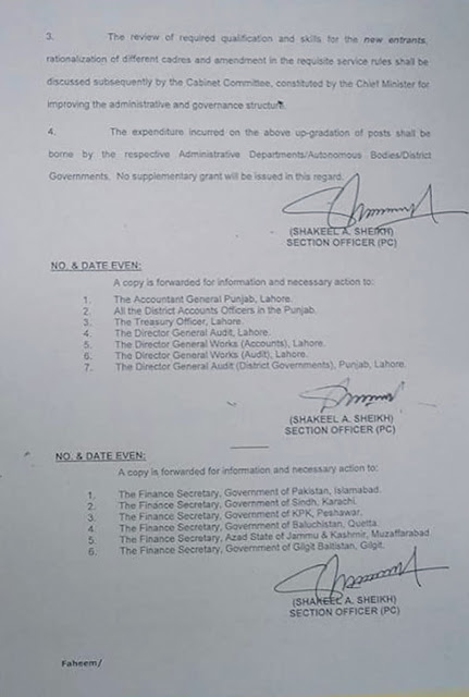 Notification of Upgradation of Clerical Staff in Punjab 2016