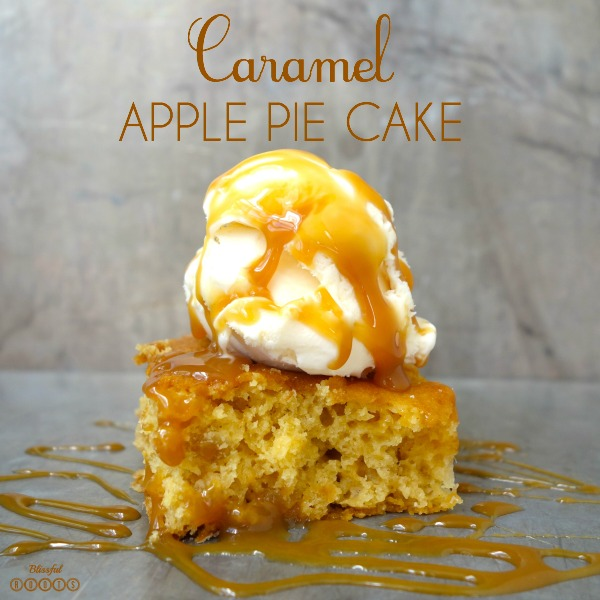 Caramel Apple Pie Cake @ Blissful Roots