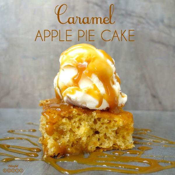 Caramel Apple Pie Cake @ Blissful Roots