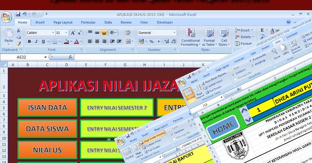 Aplikasi Skhus Sd Dan Nilai Ijazah Tahun Pelajaran 2014 2015 Download File Format Microsoft
