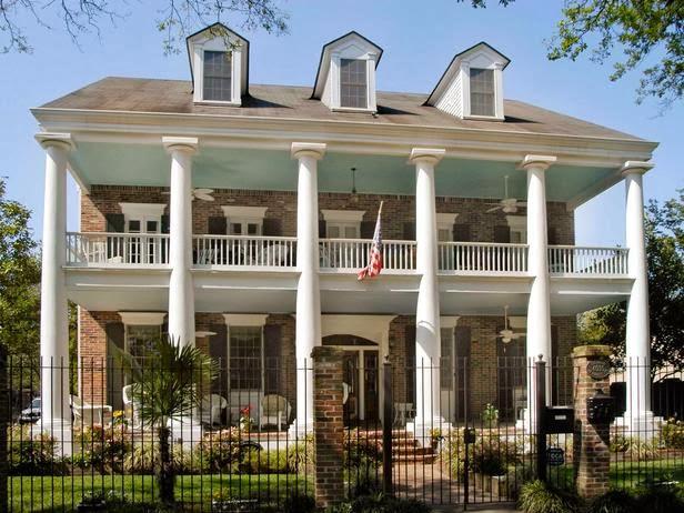 desain teras beranda rumah gaya klasik barat desain rumah