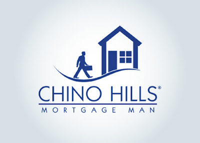 chino hills mortgage man logo design