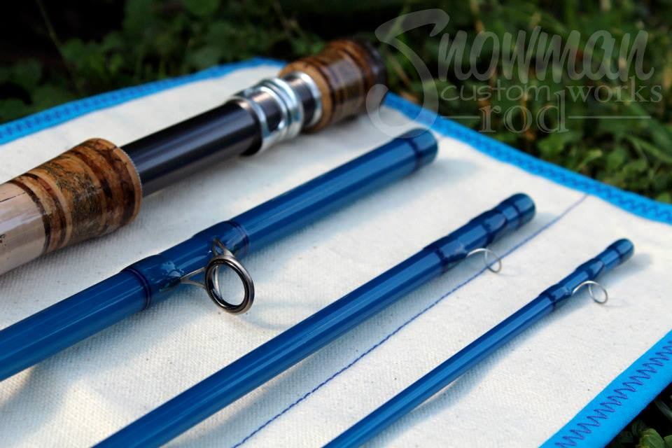 The fiberglass manifesto snowman custom rod works swift for Blue fishing rod