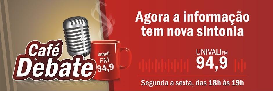 Café debate ao vivo