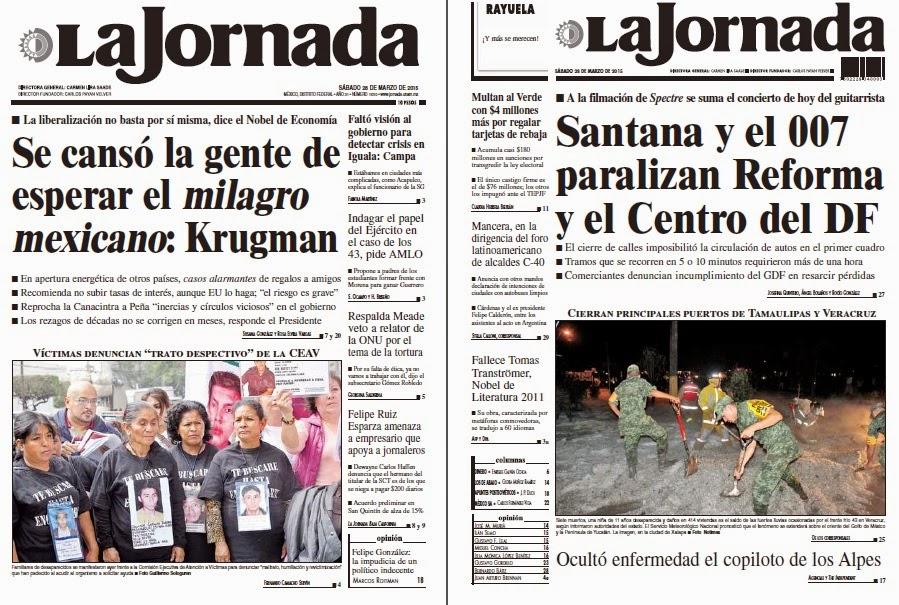 Noticias guerrer s sme peri dico la jornada se cans la for Noticias del espectaculo mexicano recientes