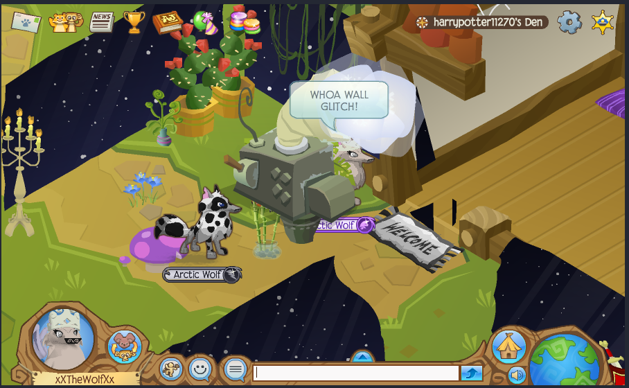 Animal Jam Wall Glitch in my