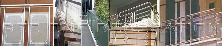 railing kaca | railing balkon | railing tangga | railing stainless