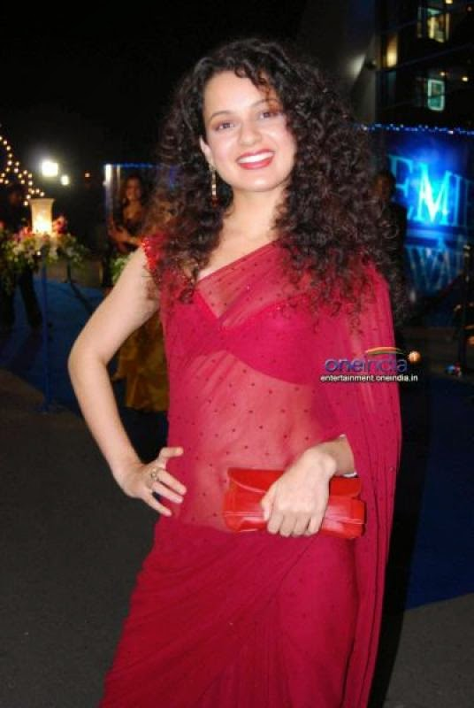 Kangana Ranaut hot photos in saree