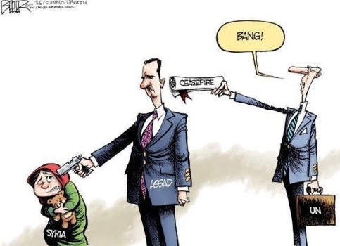 Assad political cartoon, el Assad, syria
