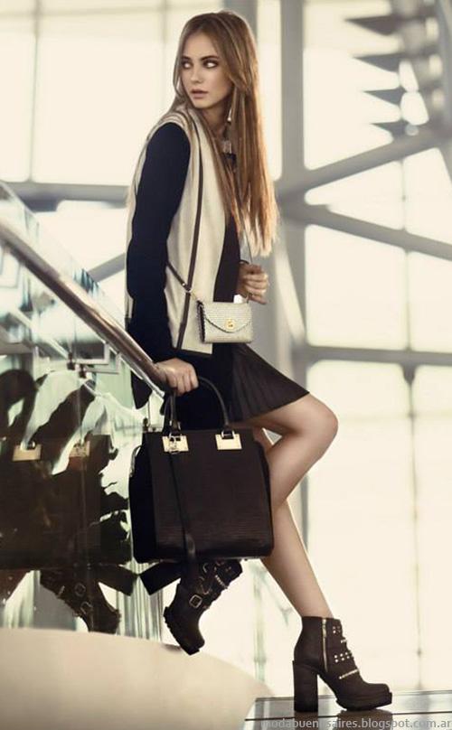 Carteras, zapatos, botas y camperas de cuero Prüne otoño invierno 2014