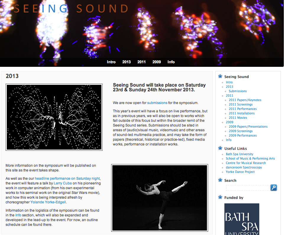 Seeing Sound Symposium - OPEN FOR SUBMISSIONS