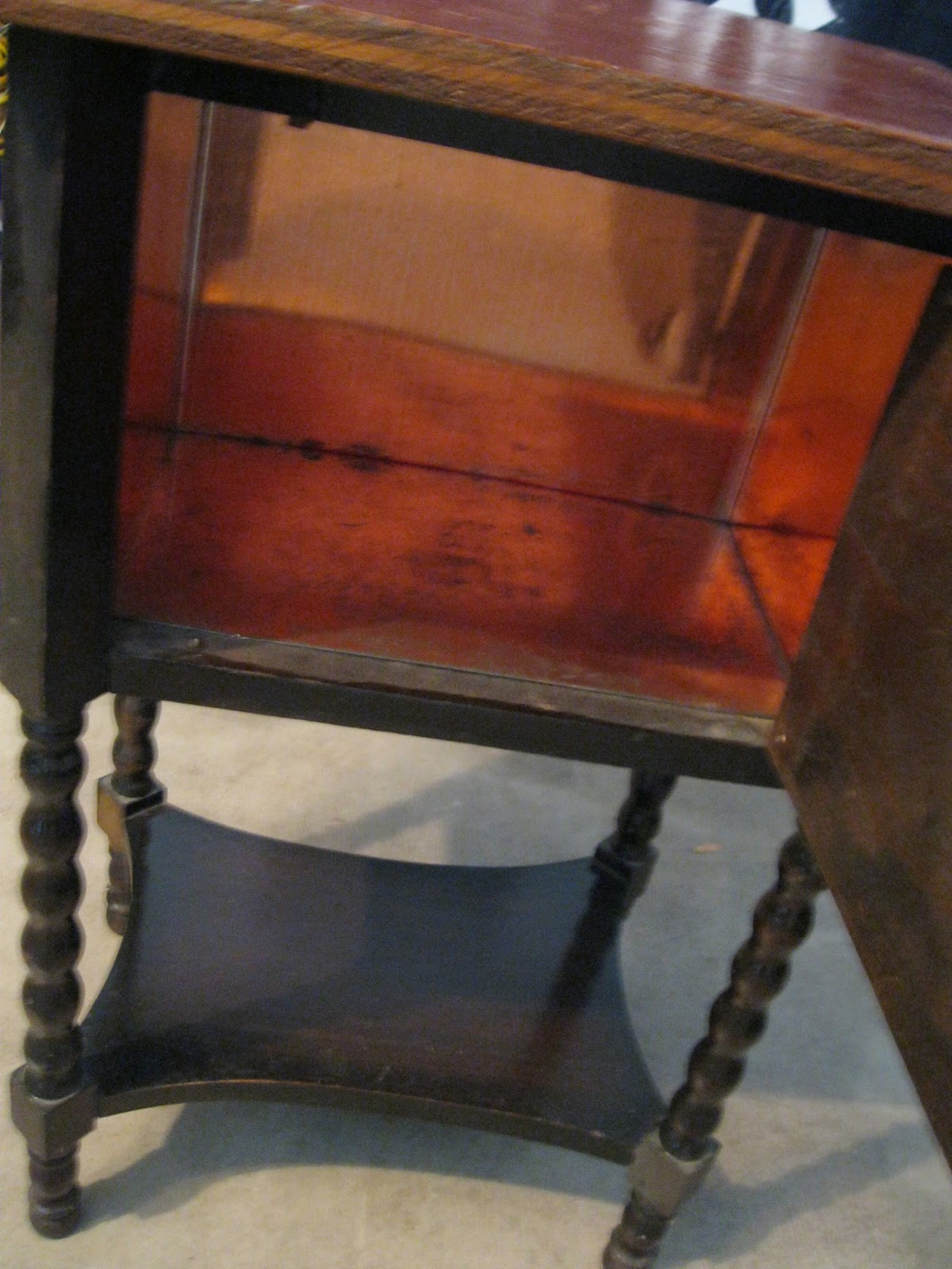 I cleaned the copper and primed the wood: - Pandora's Box: Vintage Humidor