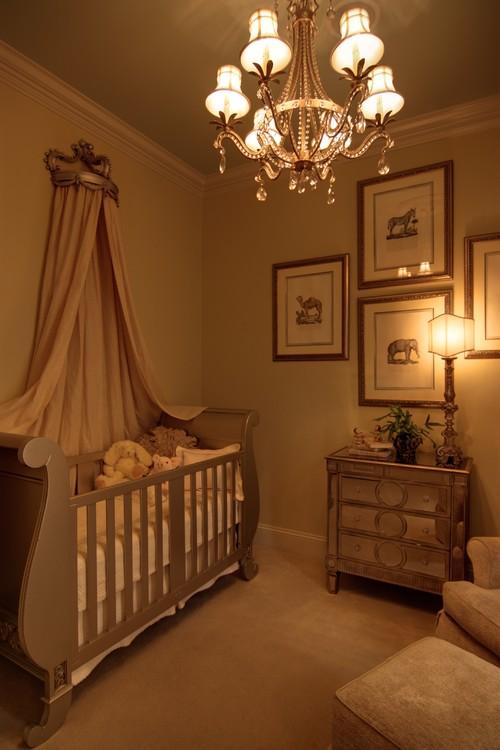 Habitaciones con estilo dormitorios de beb en colores tierra - Color tierra pared ...