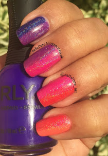 Orly Vertical Gradient F.U.N Lacquer Diamond Holo Top Coat