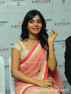 Samantha Hot Spicy Pink Saree Photos Pics images
