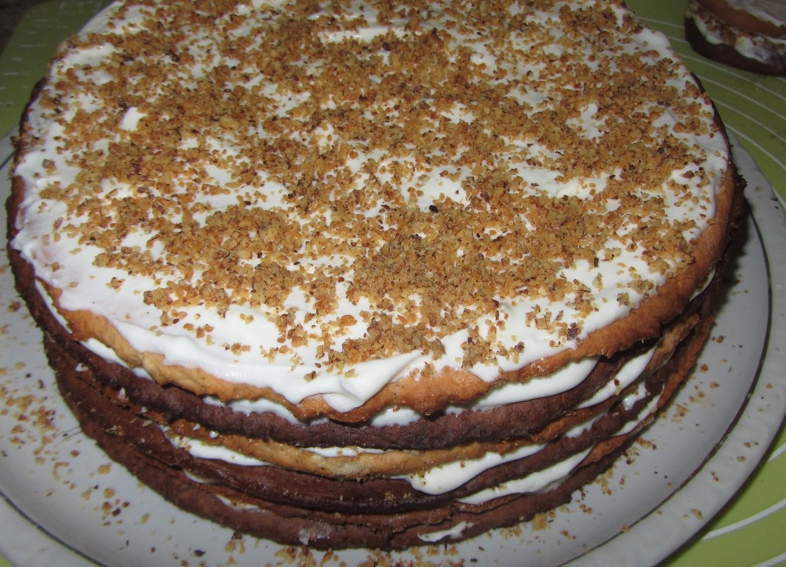 Торт Мишка на Севере - кулинарный рецепт - Поваренок 3